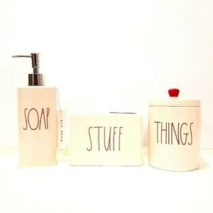 Rae Dunn Soap Stuff Things In Christmas RED Bundle